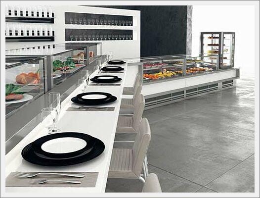 Arredamenti gastronomie designer caria arredamenti per for Arredamenti per locali commerciali